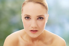 Beautiful young spa woman. Royalty Free Stock Photography