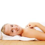Beautiful Young Spa Woman On White Royalty Free Stock Image