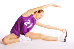 Beautiful young  sport woman Stock Images