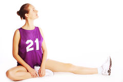 Beautiful young  sport woman Royalty Free Stock Photos