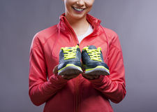 Beautiful young sportswoman Stock Photo