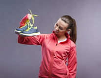 Beautiful young sportswoman Stock Photography