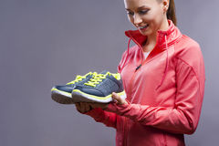 Beautiful young sportswoman Royalty Free Stock Images