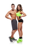 Beautiful young sporty sexy couple Stock Photography