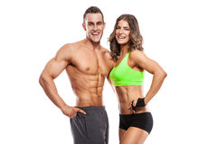 Beautiful young sporty sexy couple Stock Photos