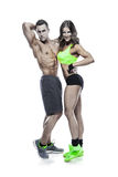 Beautiful young sporty sexy couple Stock Images