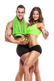 Beautiful young sporty sexy couple Royalty Free Stock Images