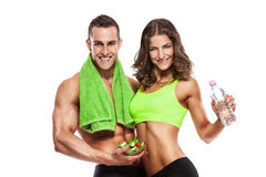 Beautiful young sporty sexy couple Stock Photo