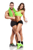 Beautiful young sporty sexy couple Royalty Free Stock Photos