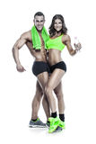 Beautiful young sporty sexy couple Royalty Free Stock Image