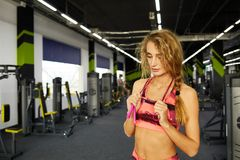 Fitness. Woman. Gym Stock Photography