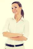 Beautiful young student, business woman. Royalty Free Stock Photography