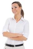 Beautiful young student, business woman. Stock Photo