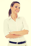 Beautiful young student, business woman. Royalty Free Stock Photos