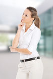 Beautiful young student,business woman thinking. Stock Photography