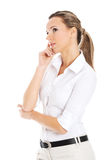 Beautiful young student,business woman thinking. Stock Photos