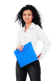 Beautiful young student with folder Royalty Free Stock Photo