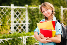Beautiful young student girl Royalty Free Stock Photo