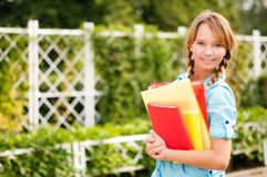 Beautiful young student girl Royalty Free Stock Image