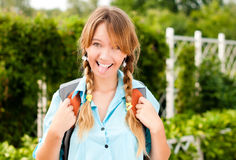 Beautiful young student girl Royalty Free Stock Images