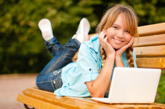 Beautiful young student girl Royalty Free Stock Photography