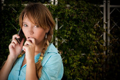 Beautiful young student girl Stock Photo