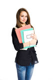 Beautiful young student girl. Royalty Free Stock Images