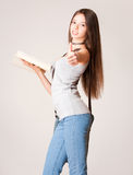 Beautiful young student girl. Stock Photo