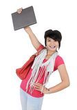 Beautiful young student holding a book Royalty Free Stock Photography