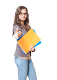 Beautiful young student. Royalty Free Stock Photography
