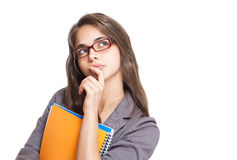 Beautiful young student. Stock Photography