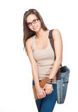 Beautiful young student. Stock Photo