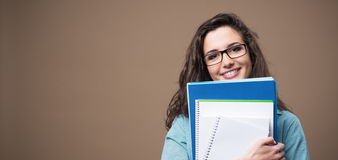 Beautiful young student posing Royalty Free Stock Photo