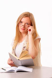 Beautiful young student woman Stock Images