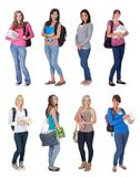 Beautiful young students Royalty Free Stock Photos