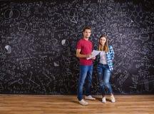 Beautiful young students Stock Photos