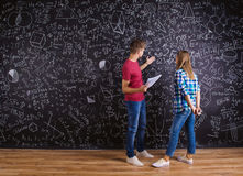 Beautiful young students Stock Photography