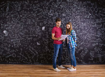 Beautiful young students Stock Images