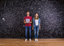 Beautiful young students Royalty Free Stock Photography