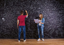 Beautiful young students Royalty Free Stock Images
