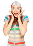 Beautiful young surprised woman Stock Image