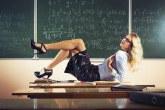 Beautiful Young Teacher Stock Photography