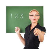 Beautiful young teacher Royalty Free Stock Photography