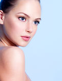 Beautiful Young Teen Girl With Clean Skin Stock Photo