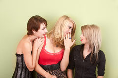 Beautiful young teen girls sharing gossip Royalty Free Stock Photo