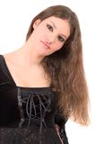 Beautiful young teenager with gothic makeup Stock Photo