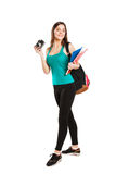 Beautiful young teenager student posing with Royalty Free Stock Image