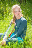 Beautiful young tennis player Royalty Free Stock Photography