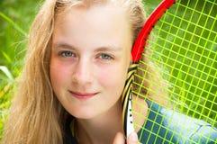 Beautiful young tennis player Royalty Free Stock Photos