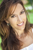 Beautiful Young Thirties Woman. Outdoor portrait of a beautiful young brunette woman in her thirties Stock Images